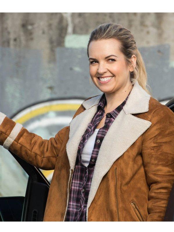 Donna Hanscum Supernatural Shearling Suede Jacket