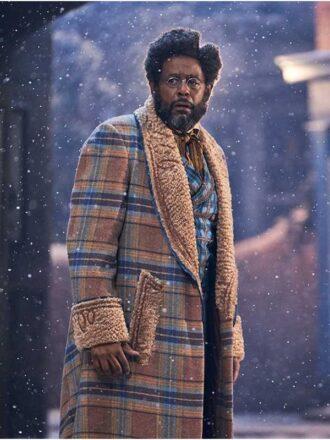 Forest Whitaker Jingle Jangle Shearling Coat
