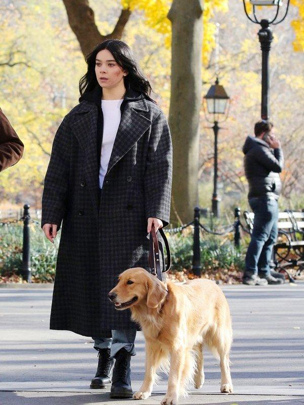 Hailee Steinfeld Hawkeye Kate Bishop Long Checked Coat