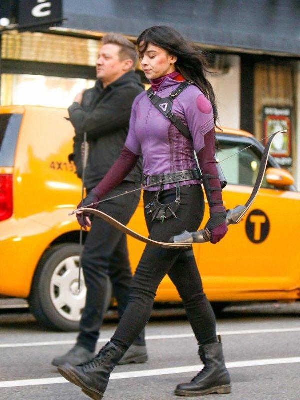 Hawkeye Hailee Steinfeld Purple Jacket