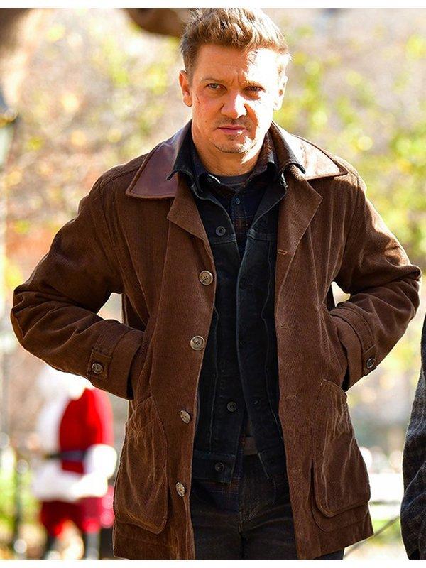 Jeremy Renner Hawkeye Clint Barton Brown Corduroy Jacket