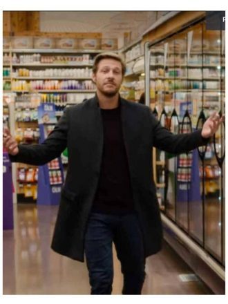 Luke Bracey Holidate 2020 Jackson Wool Black Coat