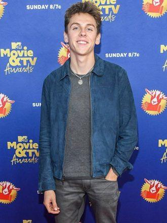 MTV Movie & Tv Awards Xolo Mariduena Suede Jacket