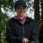 Melinda Monroe Virgin River Black Hooded Coat