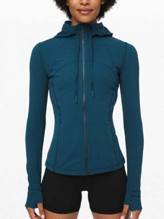 Melinda Monroe Virgin River S02 Blue Hooded Jacket