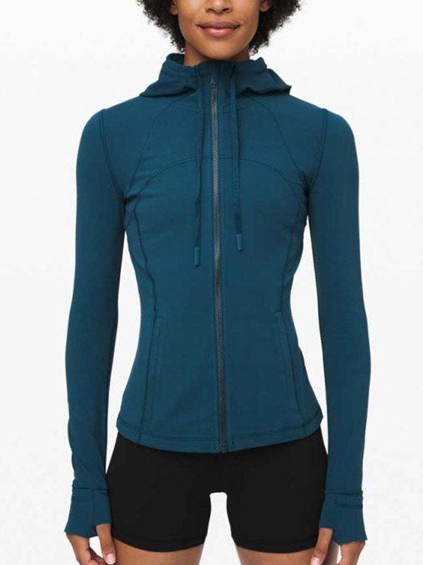 Melinda Monroe Virgin River S02 Blue Hooded Jacket