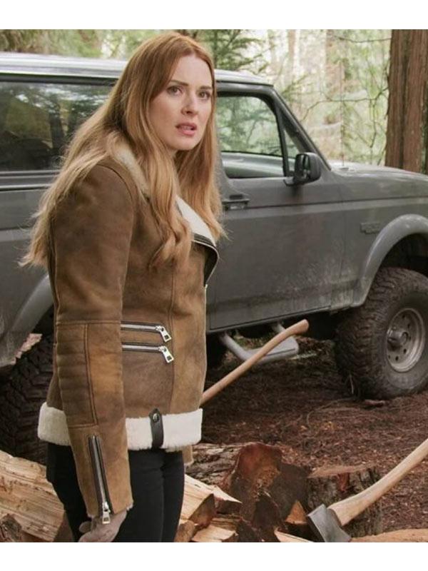 Melinda Monroe Virgin River Suede Brown Jacket
