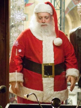 Paul Giamatti Fred Claus Nick Santa Claus Costume Jacket