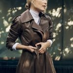 Porter Gillian Anderson Leather Coat