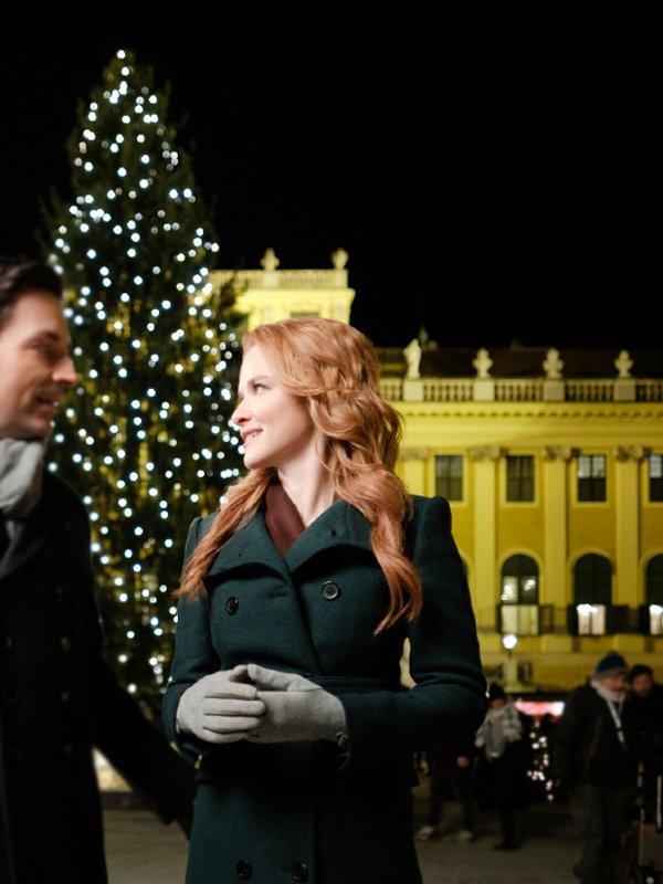 Sarah Drew Christmas in Vienna Trench Coat