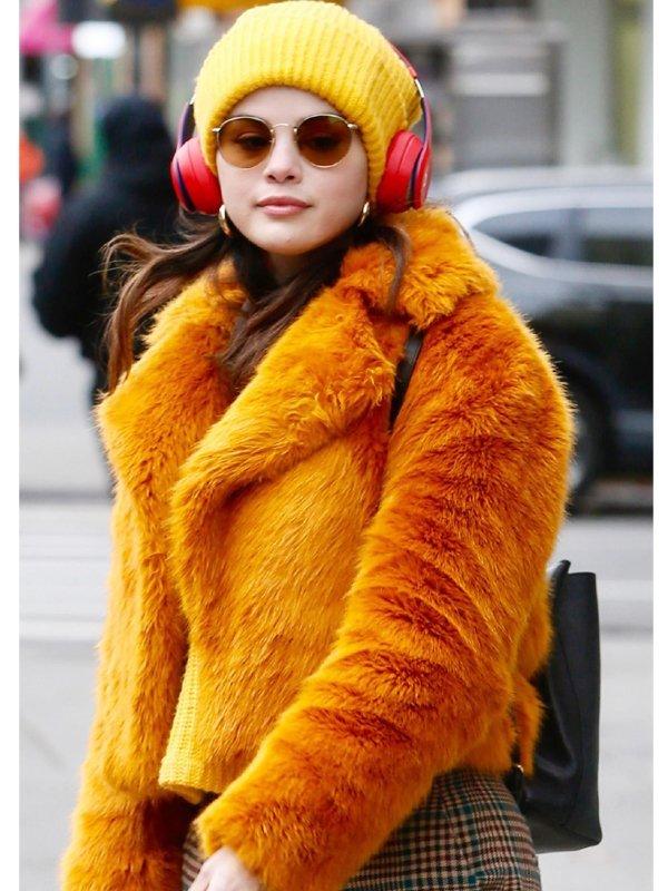 Selena Gomez Only Murders in the Building Orange Jacket