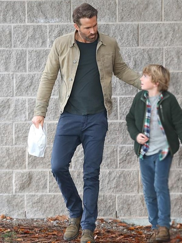 The Adam Project Ryan Reynolds Khaki Jacket