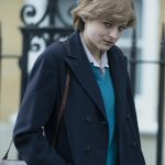 The Crown Emma Corrin Blue Spencer Coat