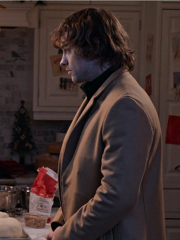 The Knight Before Christmas Josh Whitehouse Brown Wool Trench Coat