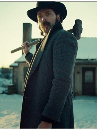 Tim Rozon Wynonna Earp S04 Doc Holliday Grey Wool Coat
