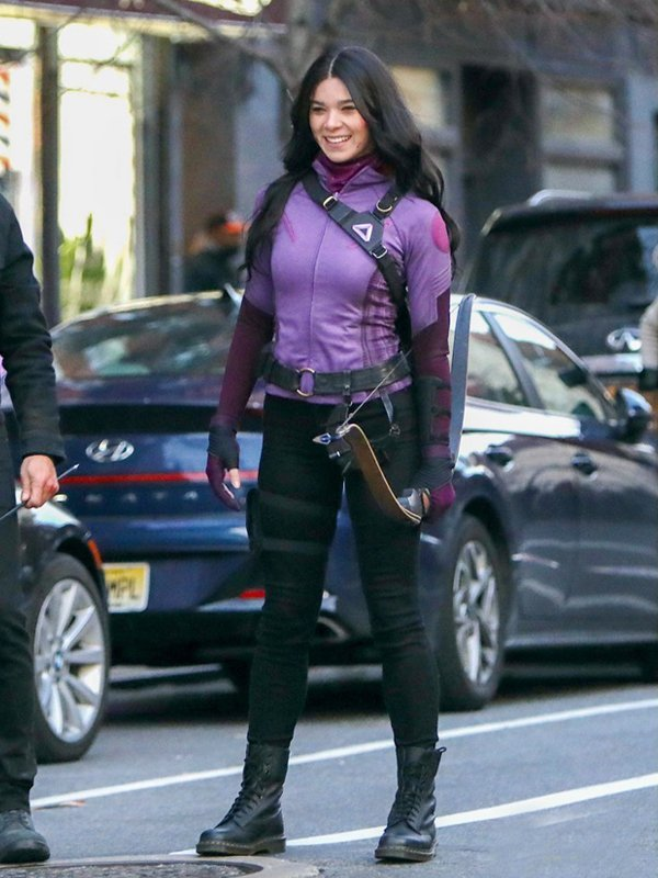 Tv Series Hawkeye Hailee Steinfeld Purple Jacket