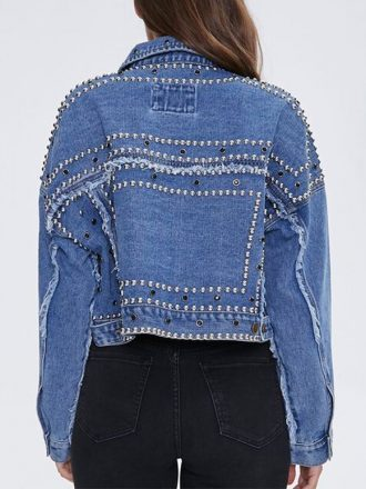 Tv Series Saved By The Bell Alycia Pascual-Pena Studded Denim Jacket
