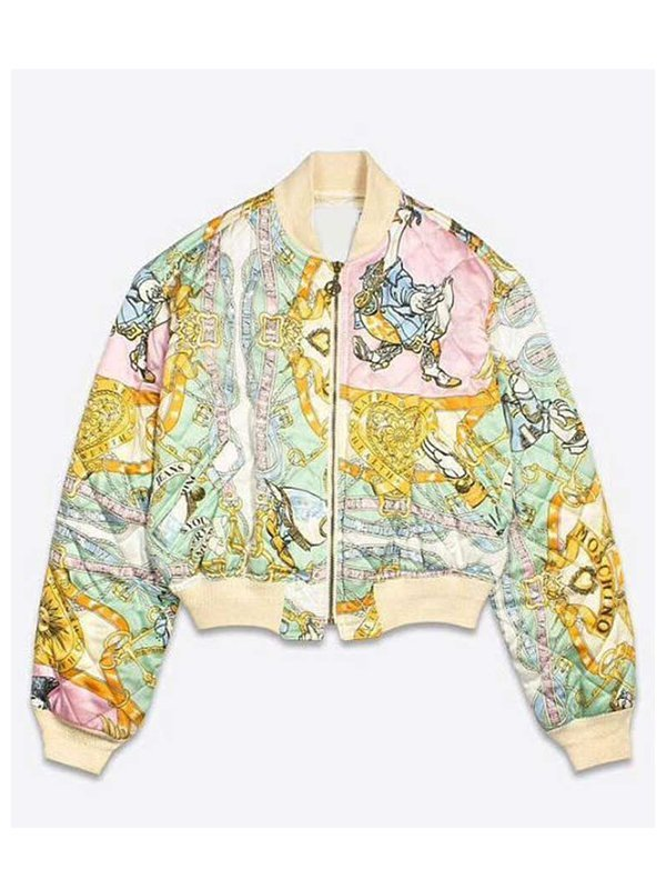 Brooklyn Clark Emily In Paris Carlson Young Printed Bomber Jacket