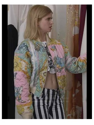 Brooklyn Clark Emily In Paris Quilted Bomber Jacket