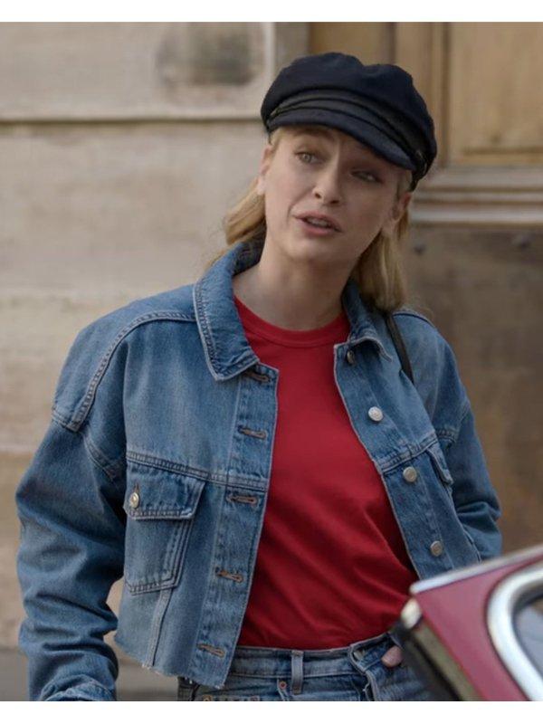 Camille Razat Emily In Paris Blue Denim Jacket