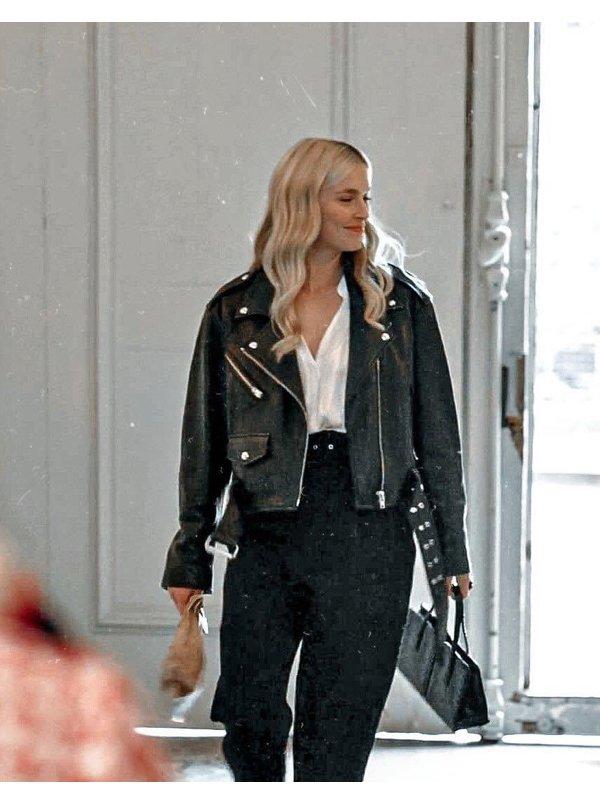 Camille Razat Emily In Paris Leather Jacket