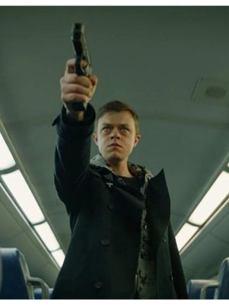Carl E. The Stranger Dane DeHaan Black Wool Coat