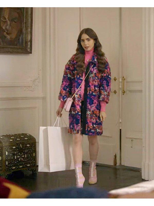 Emily Cooper Emily In Paris Floral Coat