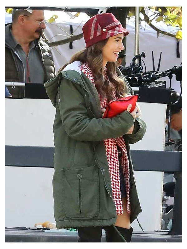 Emily In Paris Emily Cooper Mid-Length Hooded Coat