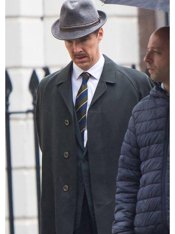 Greville Wynne Ironbark Benedict Cumberbatch Black Wool Coat