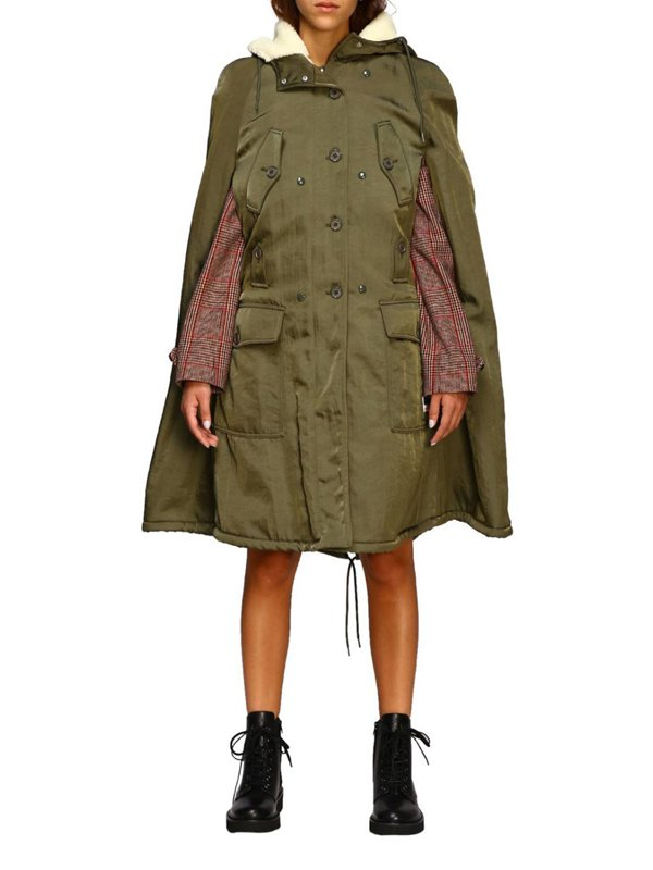 Hannah van der Westhuysen Fate The Winx Saga Stella Green Shearling Coat