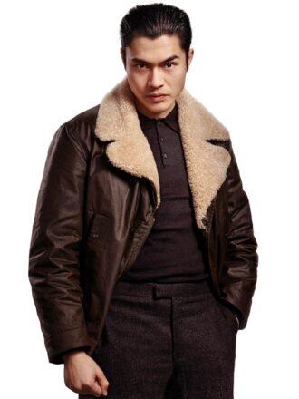 Henry Golding The Gentlemen Leather Jacket
