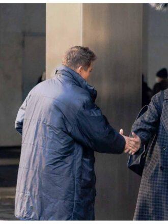 Jeremy Renner Hawkeye Clint Barton Puffer Blue Coat