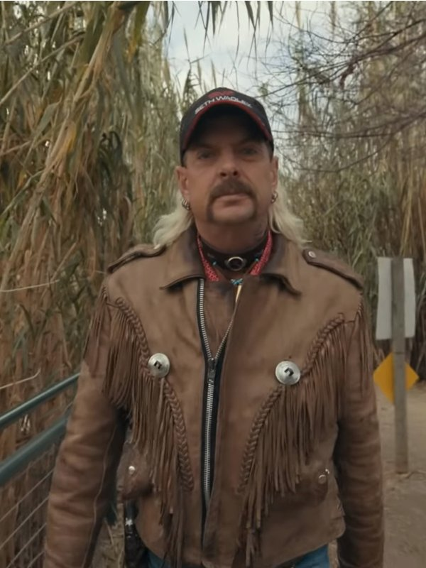 Joe Exotic Tiger King Murder, Mayhem and Madness Suede Leather Jacket