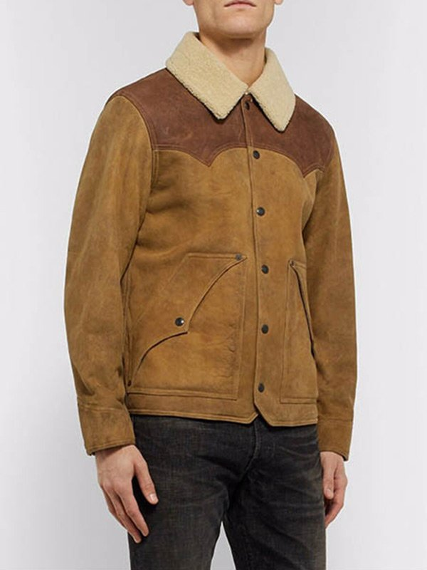 John Dutton Yellowstone S03 Kevin Costner Brown Jacket