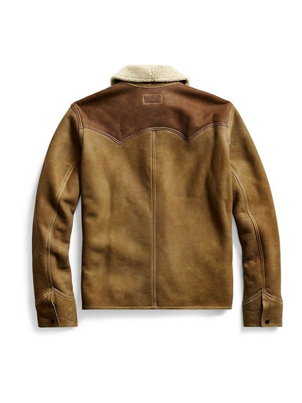 John Dutton Yellowstone S03 Kevin Costner BrownLeather Jacket