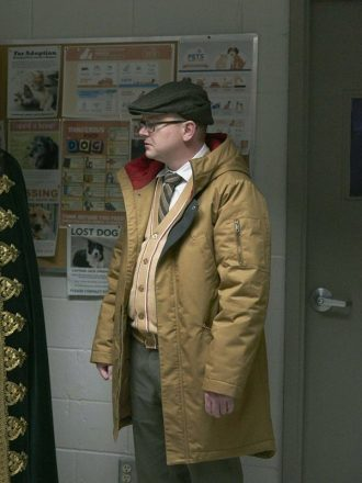 Mark Proksch What We Do in the Shadows Colin Robinson Brown Hooded Coat