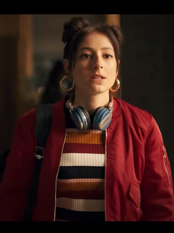 Musa Fate The Winx Saga Elisha Applebaum Red Cotton Bomber Jacket