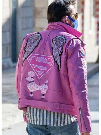 Nicolas Cage Pink Leather Jacket