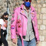 Nicolas Cage Pink Motorcycle Jacket