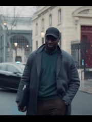 Omar Sy Arsene Lupin Grey Coat