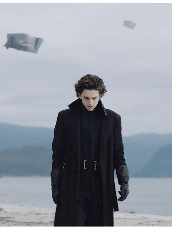 Paul Atreides Dune Black Long Coat