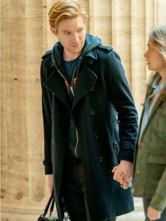 Run Domhnall Gleeson Black Trench Coat