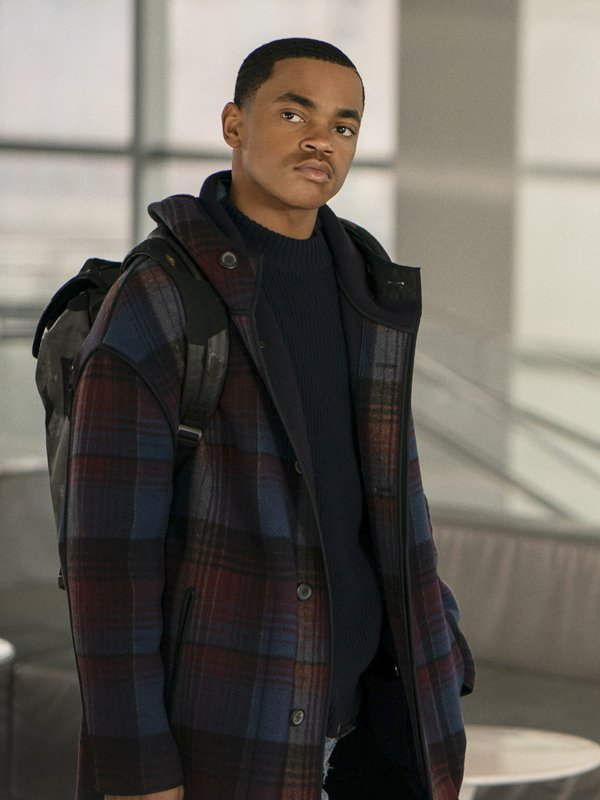 Tariq St. Patrick Power Book II Ghost Long Plaid Coat