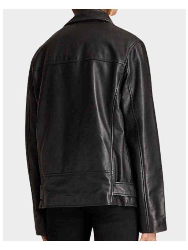 Tv Series Emily In Paris Camille Razat Biker Leather Jacket