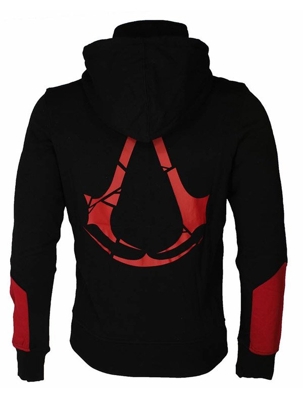 Video Game Assassins Creed Rogue Red & Black Zip Up Hoodie