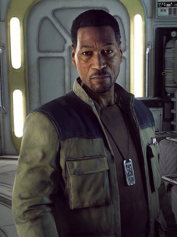 Video Game Star Wars Squadrons Lindon Javes Leather Beige Jacket