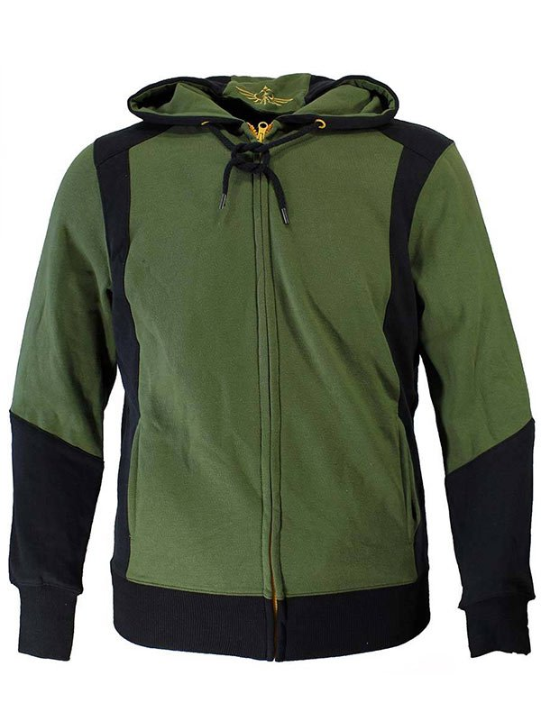 Video game The Legend of Zelda Hyrulian Crest Logo Green & Black Hoodie