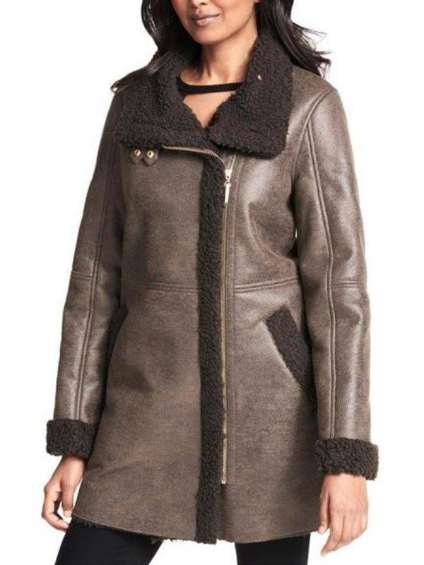 Women Shearling Leather Coat