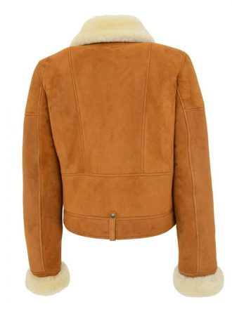 Women's Brown Sheepskin Double Face Shearling Leather Coat
