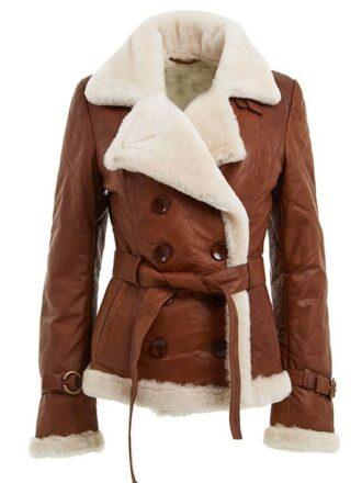 Women's Shearling Brown Jacket